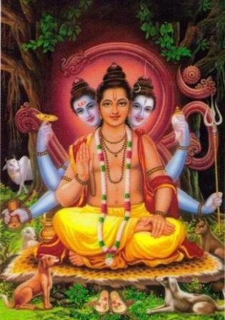 Guru in lotus seat