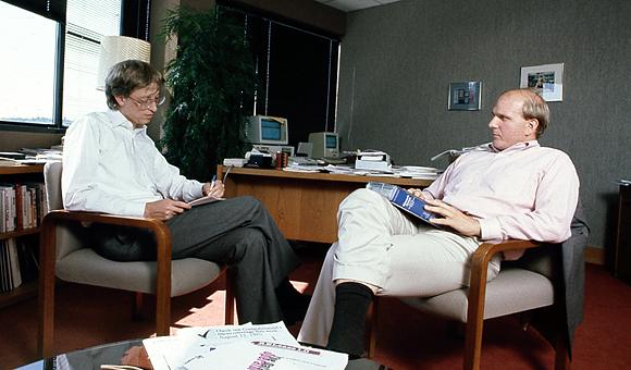Bill Gates and Steve Balmer 1987