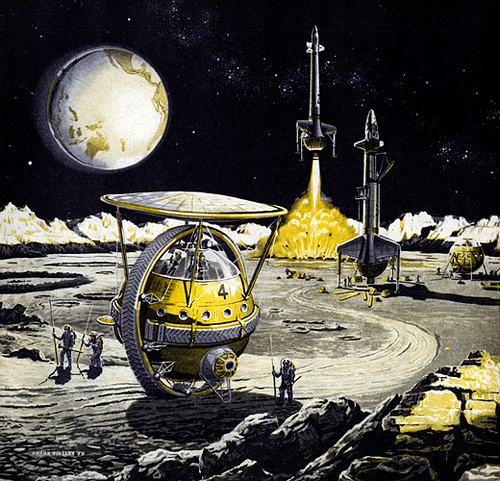 Frank Tinsley - Outpost on the moon