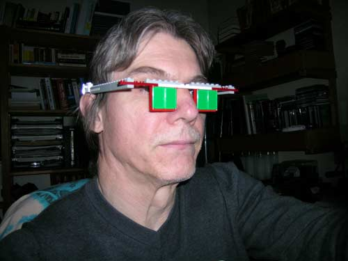 Lego glasses during rest