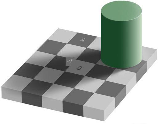 optical illusion demonstrated