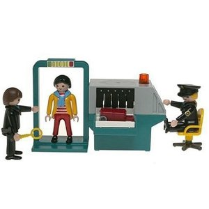 playmobile toy - airport security checkpoint